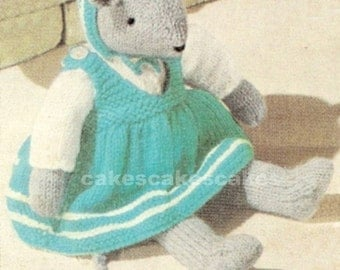 Vintage Mouse Knitting Pattern PDF