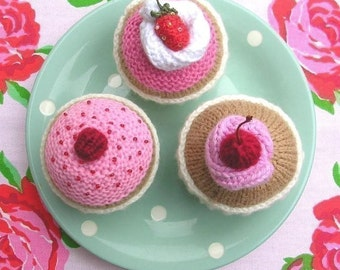 Cupcake with Decorations Knitting Pattern PDF Instant download
