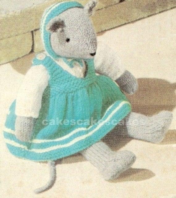 Knitting Vintage Things : Items similar to vintage mouse knitting pattern pdf on etsy