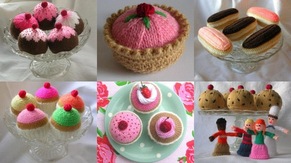 Knitted Cakes Free Patterns : Cake Knitting Patterns PDF Your choice of 3 by cakescakescakes