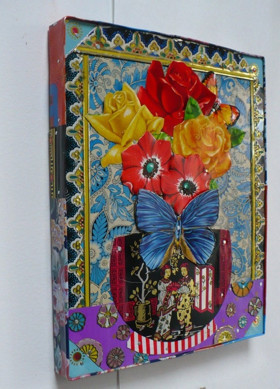 items similar to recycled metal art entitled flowers every