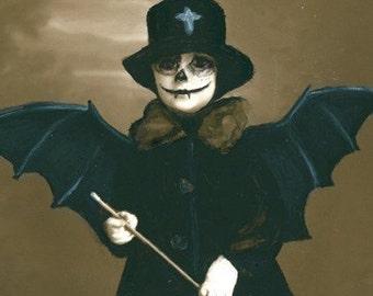 Skeleton Krew Bat Sunday PRINT halloween