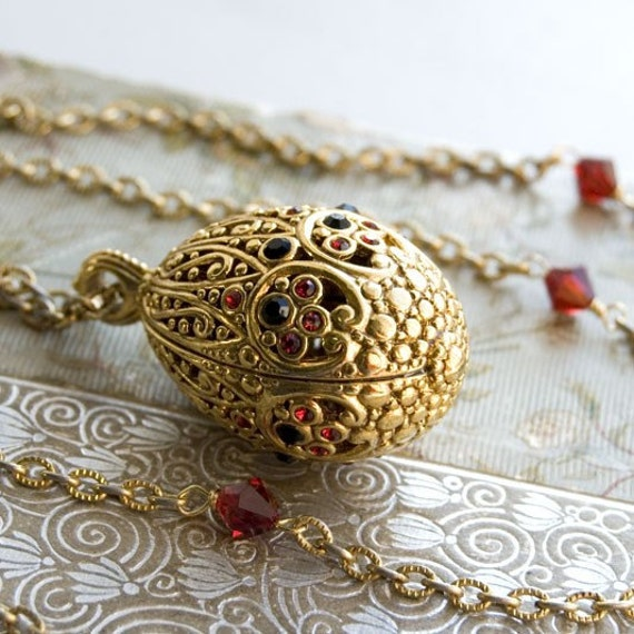 Faberge Egg Necklace