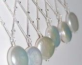 Coin Pearl Necklaces, Sterling Silver, Bridesmaids, Bridal, Beautiful, Natural Freshwater Wire Wrapped