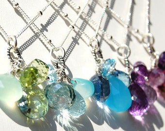 SURPRISE Gemstone Trinket Necklace Created Just for You by Me, Using Your Favorite Color