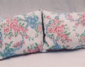 Recycled Denim Pair French Cottage/Shabby Chic Pillows