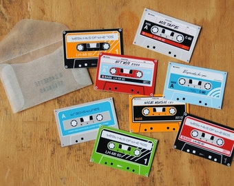 Cassette sticker set