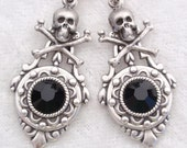 Pirate's Life- Vintage style Antiqued silver earrings