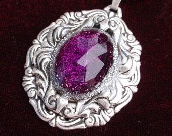 Gothic Romance Antiqued Silver Pendant