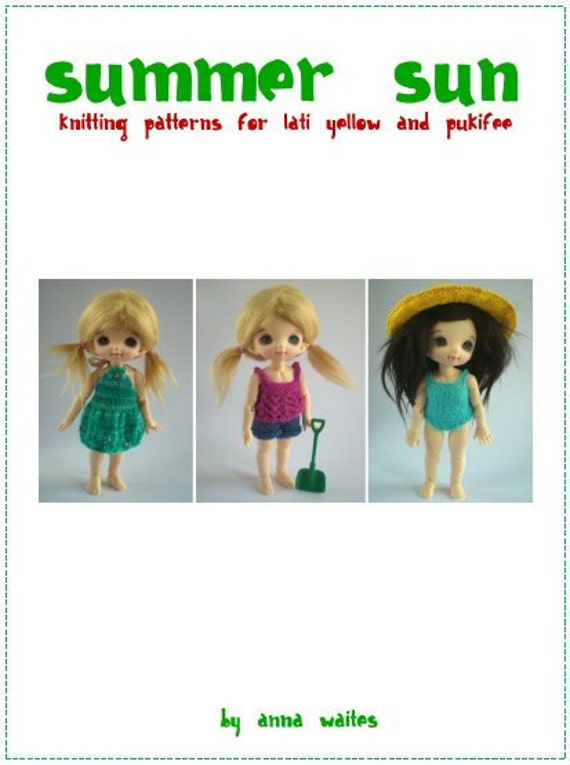 Summer Sun - Knitting Pattern eBook for Lati Yellow and Pukifee