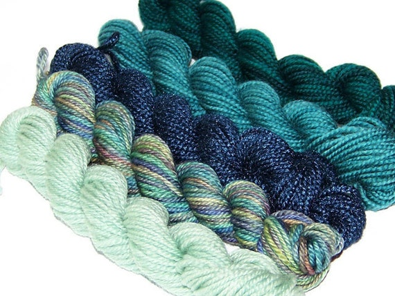 Night Tide - Set of 5 Mini Skeins