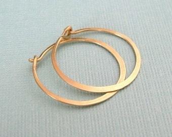 "SMALL 3/4"" (20mm) 14K gold filled hoop earrings"