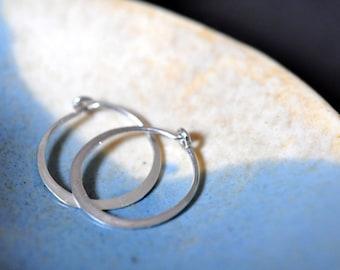 Mini 5 8 Inch 16mm Solid 14k Gold Hoop Earrings