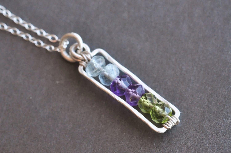 birthstone necklace mothers necklace grandmother necklace. Black Bedroom Furniture Sets. Home Design Ideas