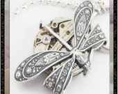 Time On A Wing ...Silver ... Steampunk
