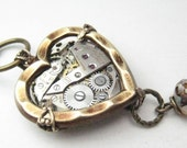 Steamy Heart  Steampunk, Steampunk necklace, steampunk heart,   steampunk jewelry, victorian, - JewelsByNature