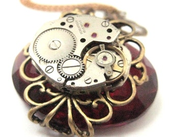 Timely Elegance ... Red ... Steampunk
