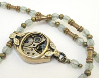 Opals with Steam ... Steampunk Victorian Beaded One of a Kind  Jewelry