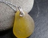Here Comes The Sun - Genuine Sea Glass Jewelry -  Necklace