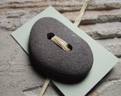 Cute As A Button - Beach Stone Button for Sewing Notions or Jewelry Designs