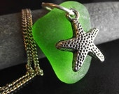 Patrick - Genuine Sea Glass Jewelry -  Starfish Necklace