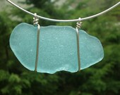 The Big Blue Sea - Genuine Sea Glass Choker