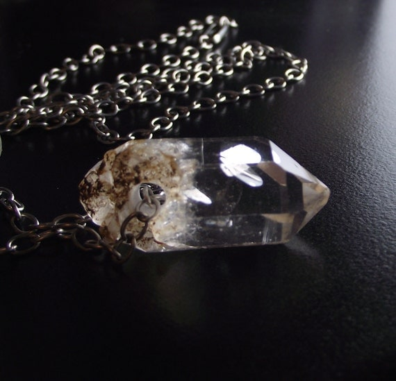 Herkimer Diamond Necklace - VODKA TONIC - Jewelry by Sea Find Designs