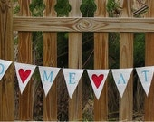 You had me at Hello..... Burlap Glittered Banner