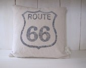 Route 66 Feedsack style Pillow Cover 16 x 16