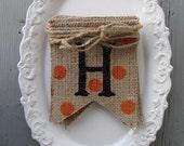 Ready to ship...Halloween Mini Burlap Banner