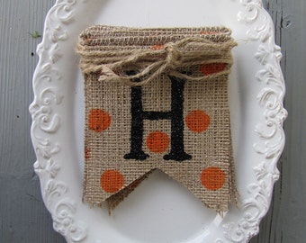Halloween Mini Burlap Banner