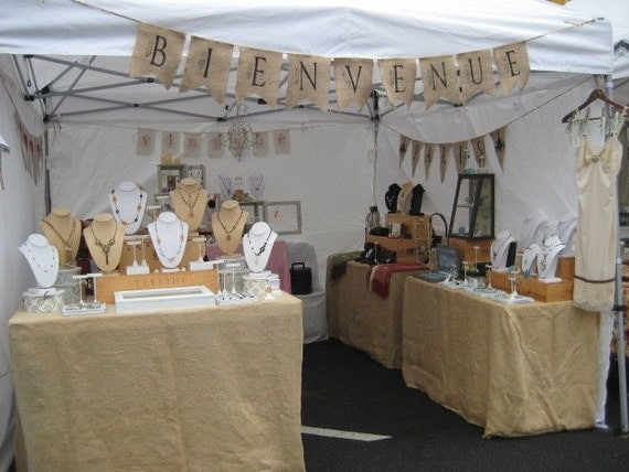 craft show banner ideas items similar to bienvenue wedding trade show vendor 4044