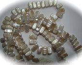 Genuine Ivory Fresh Water Stick Pearls 4 inch strand