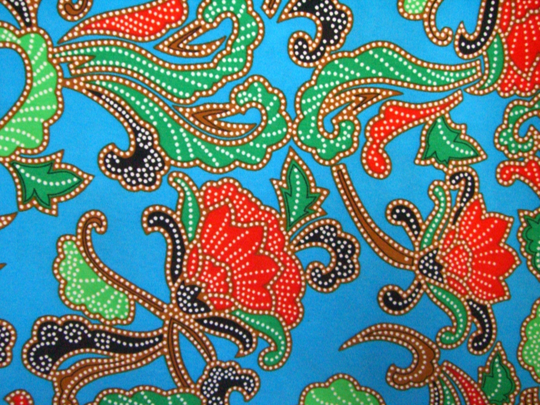 CLEARANCE HALF YARD Malaysian Batik Fabric by orientalfabrics