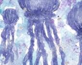 Original Jellyfish Watercolor ACEO