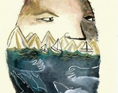 RESERVED for launalola / Sea Dreamer gouache watercolour on paper original illustration