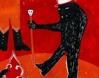 SALE Ghoul Circus by Emma Kidd / Digital Print