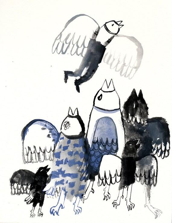 Renewal Original Illustration in gouache on paper