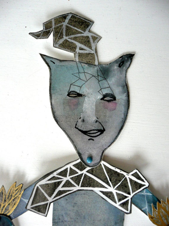 SALE EOFY Iceman Original Paper Doll Articulated / Hinged Beasts Series