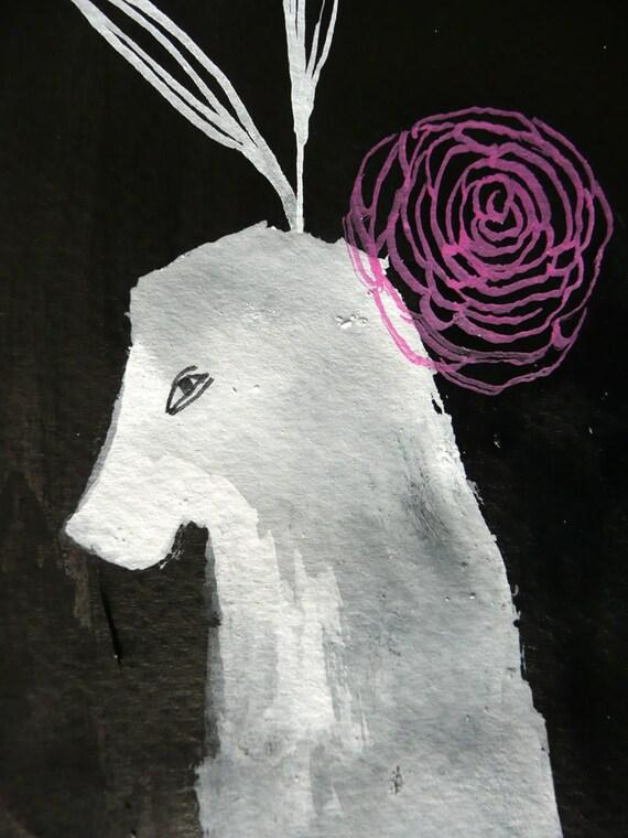 White Horse / original gouache illustration by Emma Kidd