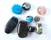 Glass LAMPWORK GLASS BEADS-Orphan Beads (9)