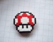 red super mushroom pin