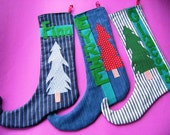 5 Custom Christmas Elf Stockings RESERVED for THECIRCLEOFBIRTH