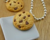 Chocolate Chips Cookie Necklace