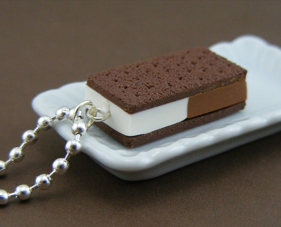 Ice Cream Sandwich Necklace