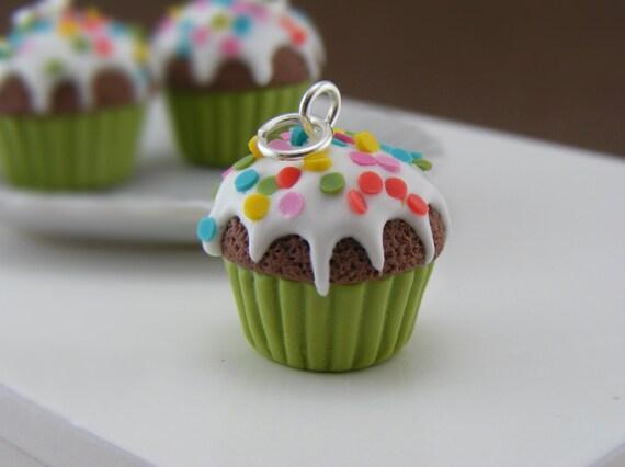 Confetti Cupcake Charm
