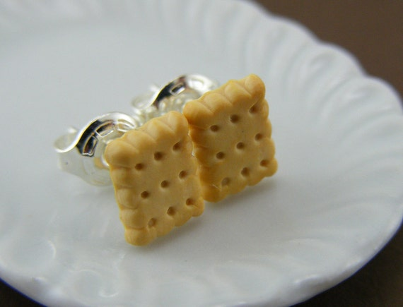 Biscuits - Studs / Post Earrings
