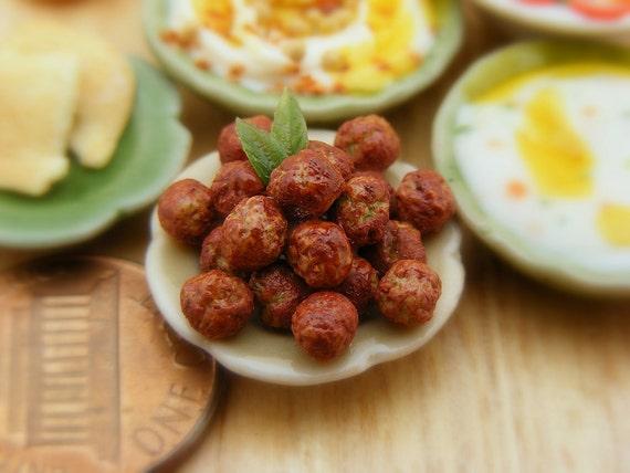 Falafel - 1:12 Scale Dollhouse Miniature Food