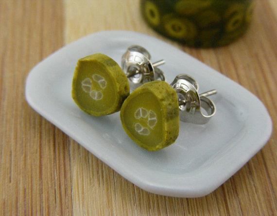 Pickle - Studs / Post Earrings - ON SALE