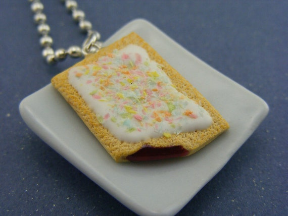 Strawberry Pop Tart Necklace